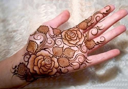 Floral Mehandi Designs 5